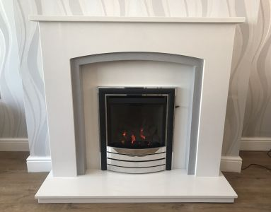 Marble Fireplace with Gas Fire