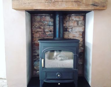 Clearview Stove with Beam
